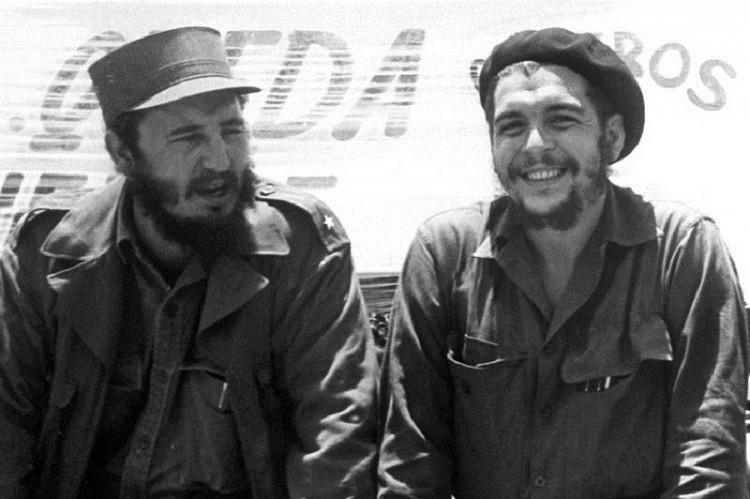 Kubas Ministerpräsident Fidel Castro und Ernesto