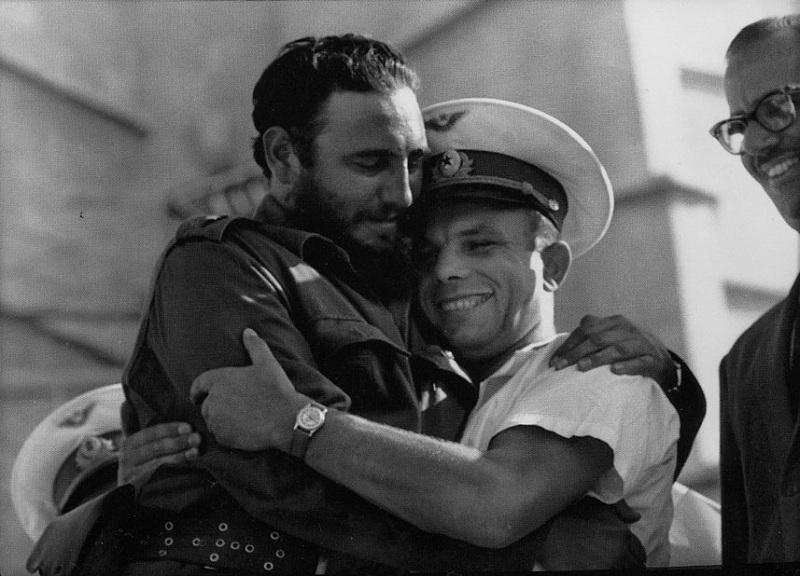 Гагарин и Кастро cuba havana varadero cubagood.com куба гавана варадеро тур